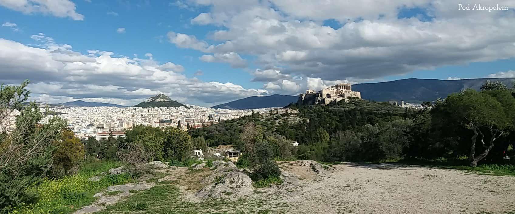 Widok na Akropol ze wzgórza Pnyks