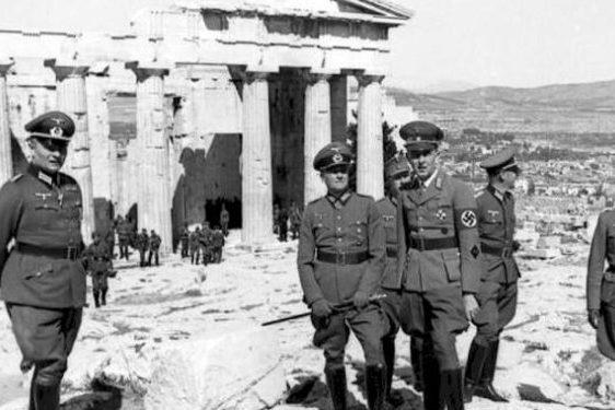 naziści w atenach